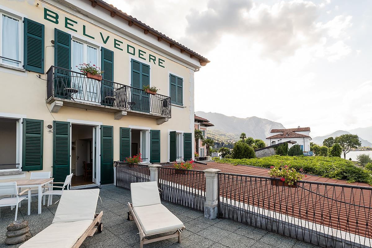 Hotel camera terrazzo panoramico Isola Pescatori Lago Maggiore